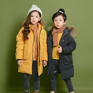 The New 2020 Down Jacket For Boys And Girls With Large Fur Collar And Medium Length Jacket For Children
