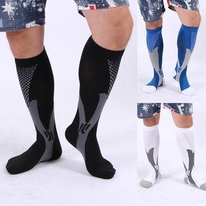 Leg Support Stretch Compression Socks Men Women Running Athletic Pregnancy Travel Football Breathable Adult Sports Socks