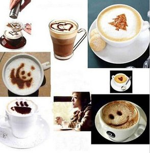 Coffee Printing Mold Pattern Stencil Latte Cappuccino Mold With 16 Different Design 16 Party Festival Necessaty Suplies bbyyFM sport77777