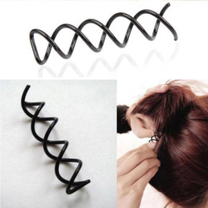 12Pcs Hair Styling Tools Braiders Spiral Spin Screw Pin Hair Clips Twist Barrette Hairpins Hairdressing Accessories Hair Clips VTKY2135