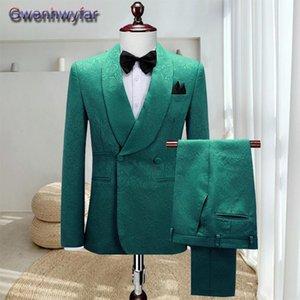 Gwenhwyfar Custom Made Best Men Groomsmen Tuxedos,Shawl Lapel Blazers With Vest Pants,Autumn Winter Wedding Dress Suit For Men