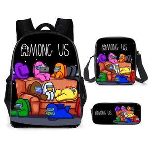 Among Us backpack student fashion bag Shoulder bag Pencil bag Kids Gift