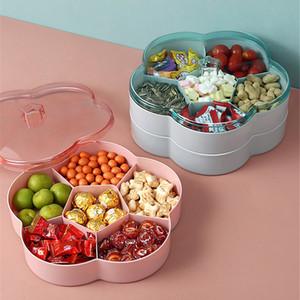 Creative Flower Petal Fruit Plate Candy Storage Box Wedding Snack Candy Box Jewelry Cosmetic Dry Fruit Organizer Z1123