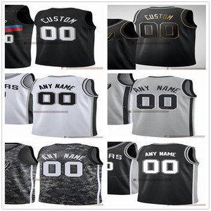 Maglie stampate personalizzate Uomo di alta qualità 2021 New Black City Grey Camo White Black Gold Jersey. Numero del messaggio e nome su ordine