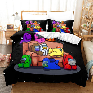 3D Among Us Bedding Sets Cartoon Digital Printing Three Quilt Cover Pillowcase Bedsheet Cover Suit Duvet Cover Bedding Sets 10Styles E121005
