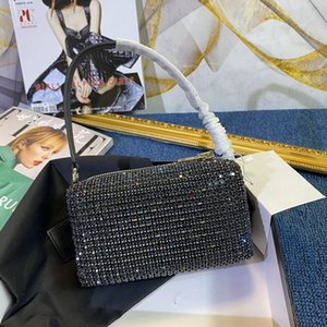 2021 Top Qualität Neue Modedesigner Mr Wang Bling Buling Dinner Bag Frauen Diamant Abendtasche Dame Glänzender Strass Party Umhängetasche