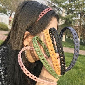 Fashion Hair Head Hoop Band Sport Headband Hairband Plastic Headbands for Women Candy Colors Bezel for Hair Band Girls Hair Accessories
