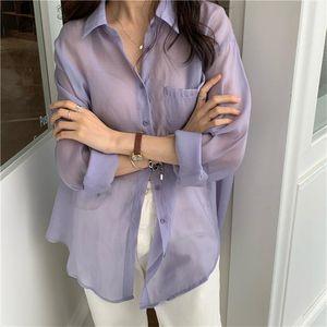 HziriP Korean Chic Solid Brief Fresh 2020 Loose Stylish Casual New Streetwear Elegance Gentle Thin Tops Basic All Match Shirts
