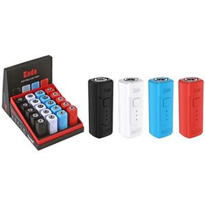 Tensão da bateria 100% Genuine Yocan Kodo BOX Mod 400mAh Pré-aqueça variável com Magnetic Adapter Fit 510 cartucho VS Sigelei Humvee 215