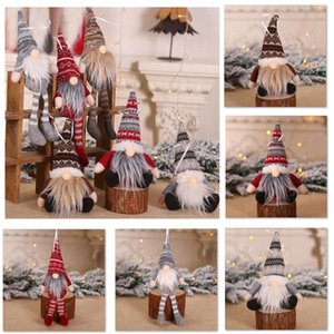 Christmas Ornament Knitted Plush Gnome Doll Christmas Tree Wall Hanging Pendant Holiday Decor Gift Tree Decorations YYB3477