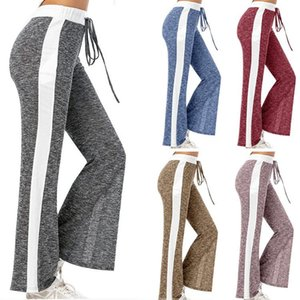 Madjtlqy 5 Colors New Fashion Flare Pants Trousers Women Sports Casual Pants Slim Fit Drawstring Sold Sweatpants Plus Size S-3XL