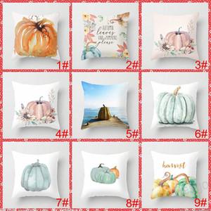 45*45cm Pumpkin Halloween Pillow Covers Thanksgiving Day Pillowcase Pumpkin Sofa Cushion Cover Home Party Decoration BH4375 WXM