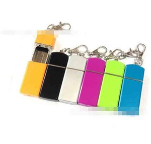 Colorful Pocket Ashtray With Keychain Round Square Cigarette Smoking Ash Tray Holder Storage Tool 2 Styles For Home Office Use Convenient