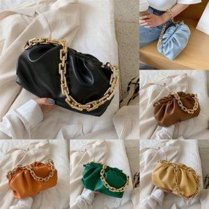 Messenger Dumpling Clipe Fogo Womens Ins Spot Paper Bag Stall Non-Mainstream Marca Popular Saco Saco Fada Plissada Super Bag Cloud Cloud # 48