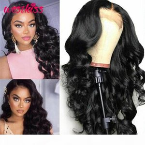 Loose Deep Wave 5x5 Lace Closure Wig Brazilian Lace Front Human Hair Wig 150% 180% Density Pre-Plucked For Women West Kiss Hair