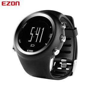 EZON T031 Hommes GPS Sports Montres de sport 50M Étanche Étanche Distance Pace Compteur Calorie GPS Timing Montres de bracelet numérique multifonctionnel 201125
