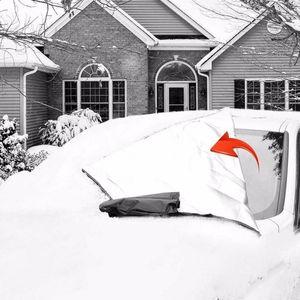 Universal Car Front Window Cover 215*125cm 245 * 145cm Snow Dust Resistant Protection Cover Auto Accessries1