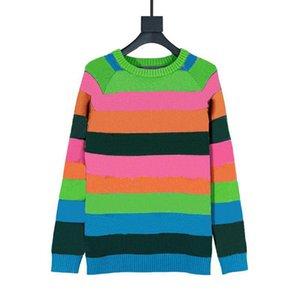 Nueva camisa de tejer de invierno jersey para hombre suéter de moda bordado de moda suéteres de alta calidad manga larga hombres mujeres punto Super Suéter