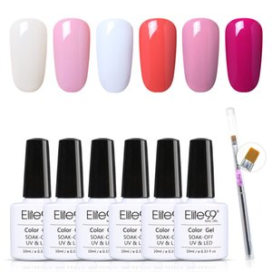 Manicure Decorative Supplies 7 Pieces lot Color Gel Polish Set With Nail Brush Soak Off Gel Varnish Hybrid UV Nails Gel Lacquer