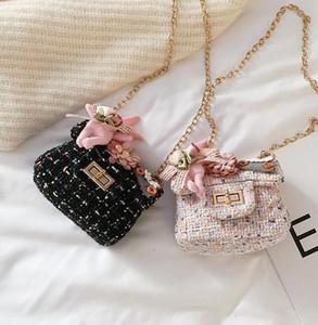 Kids Accessories Girl Mini Handbag Baby Girls Princess Pearl Messenger Bag Lady Princess Crossbody Bag Clutch Purse