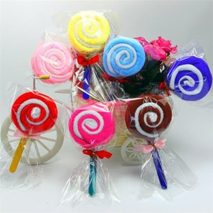 2020 Cake Towels Candy Towels Novelty Birthday Party Wedding Gift Lovely Lollipop Towel 20*20cm Random Color