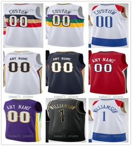 مطبوعة كيرا 13 لويس JR ستيفن 12 آدمز JJ 4 Redick Zion 1 Williamson Lonzo 2 Brandon 14 Ingram Jaxson 10 Hayes Eric 5 Bledsoe Jerseys