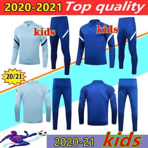 20 21 Abraham Werner Haertz Chilwell Çocuklar Futbol Eşofman Survetement 2020 2021 Chandal Kante Pulisik Çocuk Futbol Ceket Eğitim Takım Elbise
