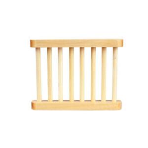 Natürlicher Bambus 14 * 20cm Seifenschale für Küche Badezimmer Seifenschale Halter Lager Rack Plattenbehälter Tragbare Dusche