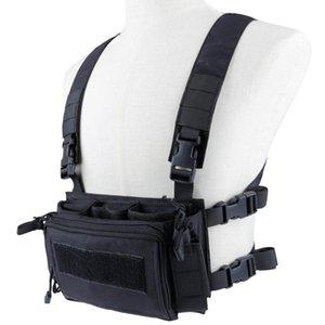 Libération rapide de la chasse à la chasse à la chasse à la poitrine de la poitrine peut adapter le sac à dos gilet tactique