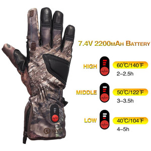 Luxury-Unisex Winter Warm 3 Levels Switch Self Heating Transfer Electric Heated Gloves Liner for Running Skiing Bicycling Hunting