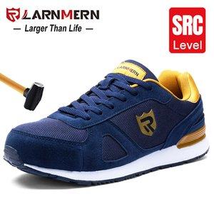 Larnmern Homens's Steel Toe Work Sapatos de Segurança Leve Respirável Anti-Smashecher Não-Slip Reflexivo Casual Sneaker 201223