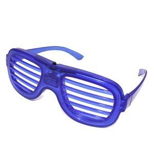 LED Light Glasses Flashing Shutters Shape Glasses Sunglasses Dances Party Supplies Festival Decoration Christmas Hollowen DHE3401