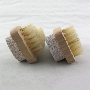 فرشاة الشعر الطبيعي فرشاة القدم تقشير الجلد الميت مزيل الخفاف حجر القدم فرشاة تنظيف خشبي فرشاة دش سبا مدلك EEF4334