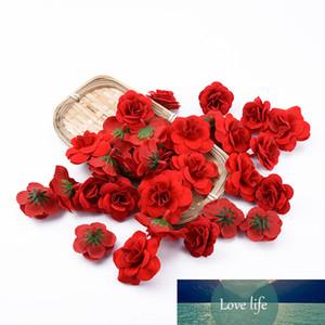 20pcs Silk Roses Wholesale Mariage Rouge Fleurs Décoratifs Accueil Décoration Accessoires Chef de Noël Fleurs artificielles pas cher