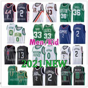 Los Leonard Angeles Kawhi Clipper Basketball Jersey BostonKeltenKemba Tatum Walker Jayson Marcus Larry Smart Paul Bird George