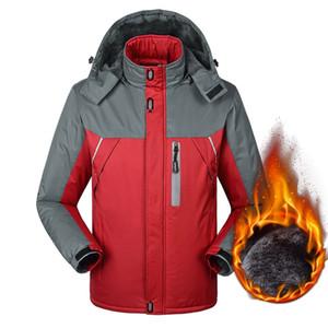2020 Erkek Kış ceketler Mens Kalınlaşmak Patchwork Dış Giyim Palto Erkek Kapşonlu Parkas Açık Sıcak Artı boyutu 5XL Marka Giyim