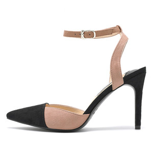 Лето 2020 модные сексуальные заостренные сандалии на высоком каблуке женские высокие каблуки каблуки каблуки цветные каблуки спины пустые все совпадающие женские туфли C