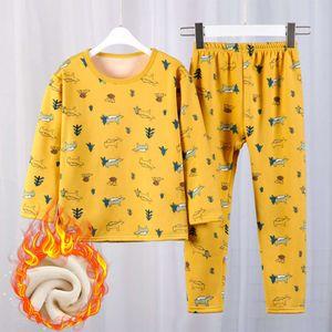 trousers and winter Plush Autumn cartoon household cloth children's underwear pajamas suit b0014
