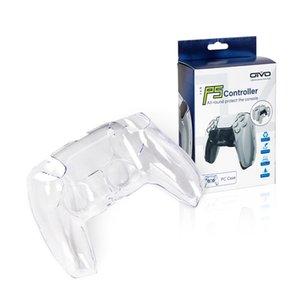 Contrôleur PS5 Coque en plastique Crystal Crystal PS5 Poignée de protection transparente Étui cutané pour Playstation 5 Accessoires de contrôleur DHL Freehip