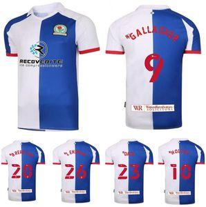 Blackburn Rovers Fussball Trikots 2020 21 9 Gallagher 10 Holtby 20 Brereton 23 Dack 26 Lenihan Football Hemd