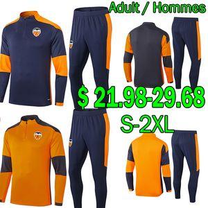 2020 2021 발렌시아 FC 축구 유니폼 스웨터 트랙스 세트 겨울 재킷 세트 Val Camisetas Guedes Gameiro M.Gómez 훈련 조깅 성인 키트