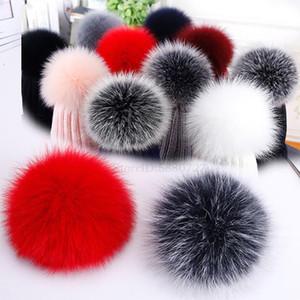 100% Real Fur Pompom Big Size 15cm DIY Raccoon Fur Pom Poms Balls Natural Pompon For Hats Bags Shoes Scarves Accessories