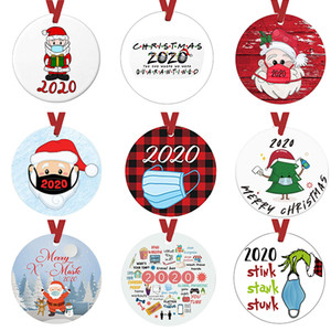 2020 Personalized Christmas Ornament Quarantine Themes Christmas Pendant Best Gift for Family Neighbors Friends Church Members Grandparents