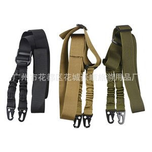 Ventiladores militares al aire libre Multifuncional TwOpunt With Mission CS Arness Tactical Sling Barra de cruz Cuerda Nylon Doble Point Pistola