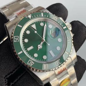 Top Mens ETA 2836 3135 Movimento Mecânico Automático Esportes Luminosos Cerâmica 904L Assista a 40mm Cerâmica Verde Men Relógios
