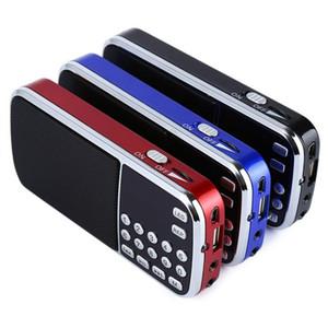 Mini-Alto-falante de rádio Player de música com cartão TF USB AUX Entrada de som caixas L-088 ao ar livre MP3 player Portable Digital Estéreo FM