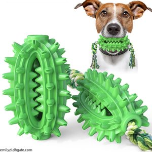 Cactus Shape Dog Teether Dog Toothbrush Super Bite Resistant Gog Teether Non-toxic Dog toy prickly pear toothbrush