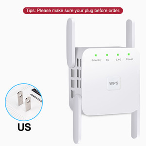 Repetidor Wi-Fi sem fio 2.4G / 5GHZ Repetuador Wi Fi Booster 1200 Mbps WIFI Amplificador Wi-Fi Longo Extender Extender Point