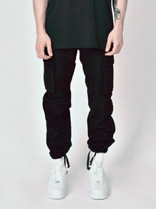 2020new Men's Korean style fashion high street style cargo pants Go with the school wind plus size pants CN(Origin) 23
