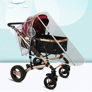 Stroller Waterproof Rain Cover Transparent Wind Dust Shield Zipper Open Raincoat1